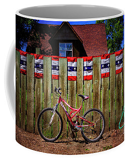 Coffee Mug featuring the photograph Patriotic Bicycle by Craig J Satterlee