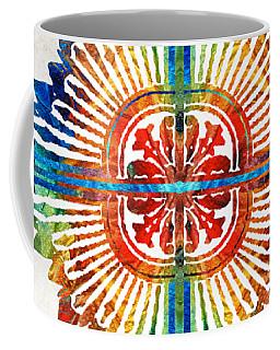 Pattern Art - Color Fusion Design 1 By Sharon Cummings Coffee Mug
