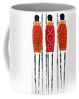 Patterned Masai Triptych Coffee Mug