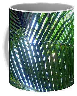 Coffee Mug featuring the photograph Patterned Palms by Rosanne Licciardi