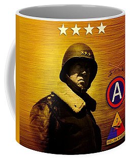 Coffee Mug featuring the digital art Patton Tribute by John Wills