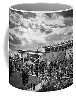 Paul Brown Stadium Black And White Coffee Mug by Scott Meyer