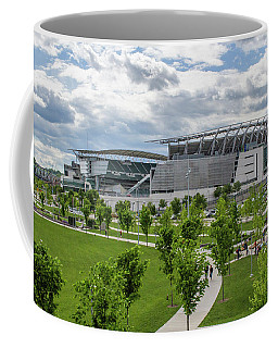 Paul Brown Stadium Color Coffee Mug by Scott Meyer