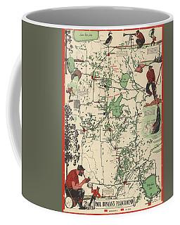 Paul Bunyan's Playground - Northern Minnesota - Vintage Illustrated Map - Cartography Coffee Mug