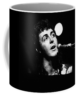 Coffee Mug featuring the photograph Paul Mccartney 1973 Square by Chris Walter