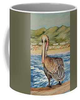 Paula's Pelican Coffee Mug by Katherine Young-Beck
