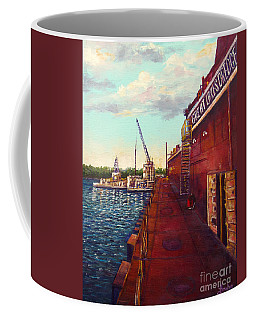 Pauls Work Place Coffee Mug by Lou Ann Bagnall