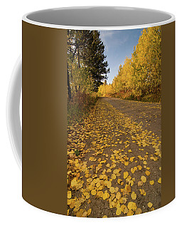 Coffee Mug featuring the photograph Paved In Gold by Steve Stuller