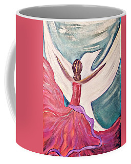Coffee Mug featuring the painting Fortress by Jessica Eli