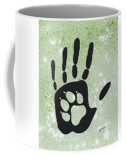 Paw And Hand Coffee Mug