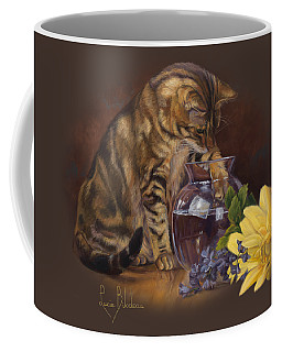 Paw In The Vase Coffee Mug