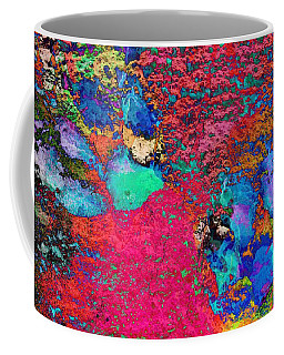 Paw Prints Colour Explosion Coffee Mug