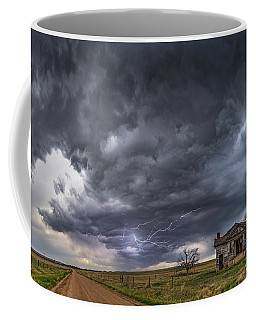 Coffee Mug featuring the photograph Pawnee School Storm by Darren White