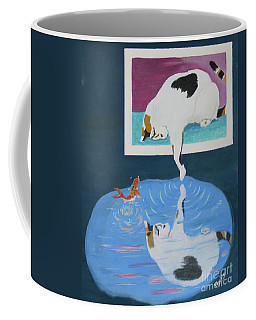 Coffee Mug featuring the painting Paws And Effect by Phyllis Kaltenbach