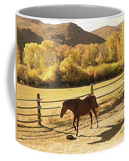 Paycheck's Shadow Coffee Mug by Lenore Senior