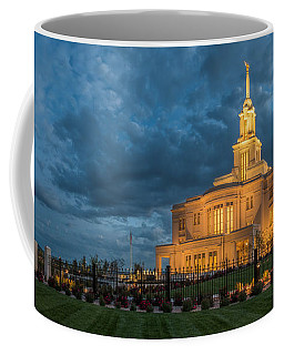 Coffee Mug featuring the photograph Payson Temple Panorama by Dustin  LeFevre