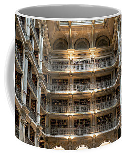 Peabody Library Coffee Mug by Steven Richman