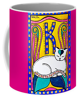 Peace And Love - Cat Art By Dora Hathazi Mendes Coffee Mug by Dora Hathazi Mendes