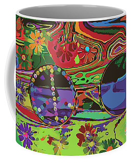 Coffee Mug featuring the digital art Peace Art by Eleni Mac Synodinos