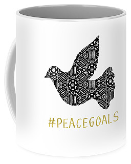 Peace Goals- Art By Linda Woods Coffee Mug