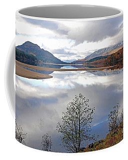 Coffee Mug featuring the photograph Peace - Loch Laggan by Phil Banks