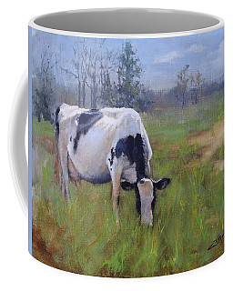 Coffee Mug featuring the painting Peace On Earth Four by Laura Lee Zanghetti