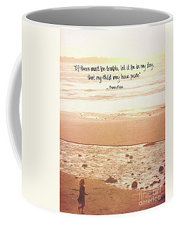Coffee Mug featuring the photograph Peace by Peggy Hughes