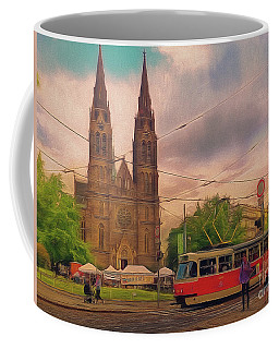Coffee Mug featuring the photograph Peace Square Prague by Leigh Kemp