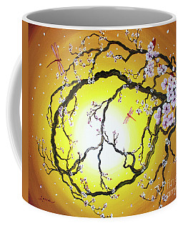 Peace Tree In Golden Glow  Coffee Mug by Laura Iverson
