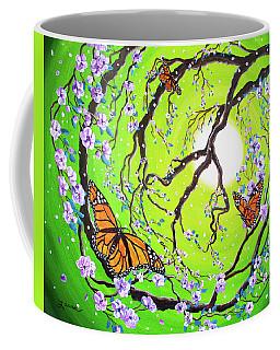 Peace Tree With Monarch Butterflies Coffee Mug