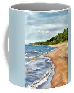 Peaceful Beach At Pier Cove Ll Coffee Mug
