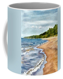 Peaceful Beach At Pier Cove Ll Coffee Mug