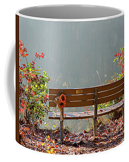 Coffee Mug featuring the photograph Peaceful Bench by George Randy Bass