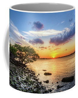 Coffee Mug featuring the photograph Peaceful Evening On The Waterway by Debra and Dave Vanderlaan