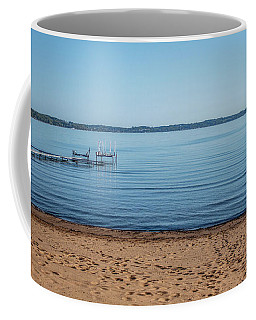 Coffee Mug featuring the photograph Grand Traverse Bay Beach-michigan  by Joann Copeland-Paul