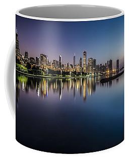 Peaceful Summer Dawn Scene On Chicago's Lakefront Coffee Mug