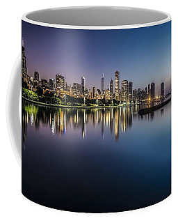 Peaceful Summer Dawn Scene On Chicago's Lakefront Coffee Mug