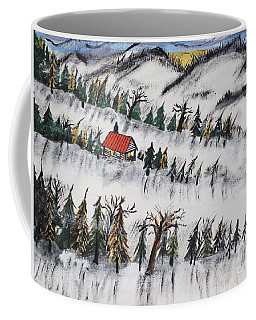 Coffee Mug featuring the painting Peaceful Winter Daybreak by Jeffrey Koss