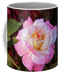 Peach And White Rose Coffee Mug