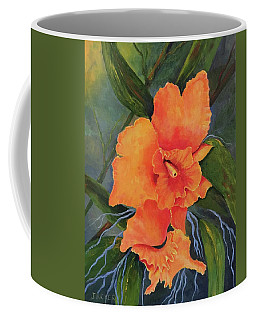 Peach  Blush Orchid Coffee Mug