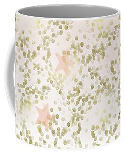 Peach Gold Confetti Stars Coffee Mug
