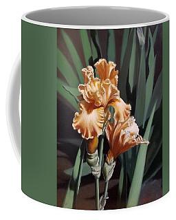 Peach Iris Coffee Mug