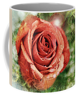 Peach Rose Coffee Mug by Sennie Pierson