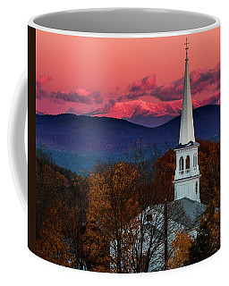 Peacham And White Mtn Sunset Coffee Mug