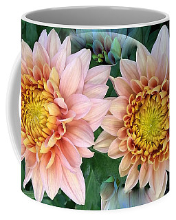 Peachy Chrysanthemums Coffee Mug