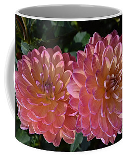 Peachy Dahlias Coffee Mug