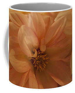 Coffee Mug featuring the photograph Peachy Dahlias by Sandra Foster