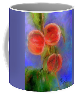 Peachy Keen Coffee Mug by Colleen Taylor