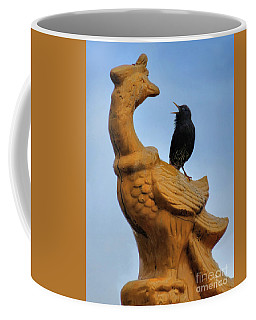 Peacock And The Starling Coffee Mug