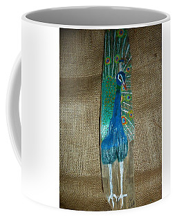 Peacock Coffee Mug by Ann Michelle Swadener